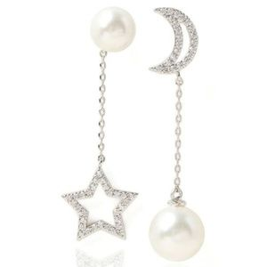 Dangle Moon and Star Asymmetrical Posts